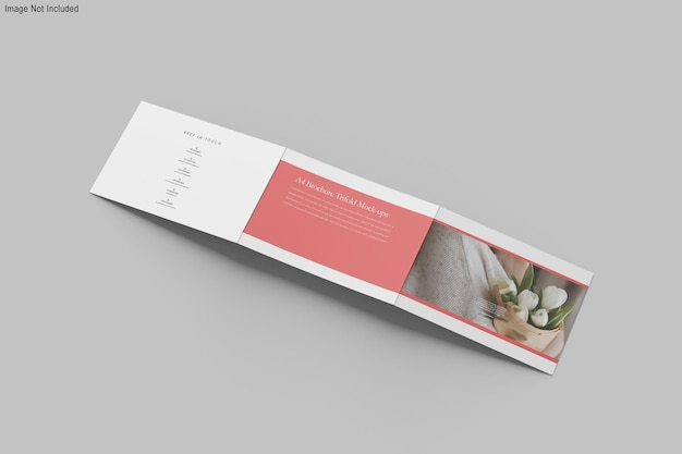 Mockup di brochure a tre ante in formato a4