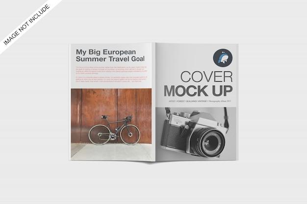 A4 magazine mockup vista dall'alto vista premium psd