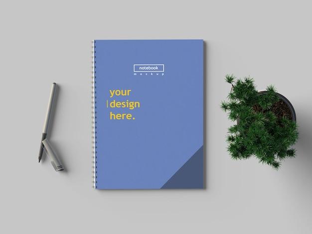 Mockup di quaderno a4