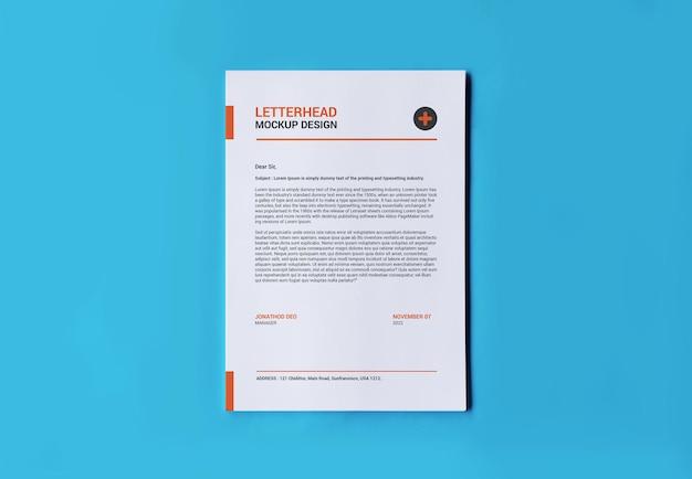 Mockup di pagine a4 per carta intestata di fatture per volantini e altro