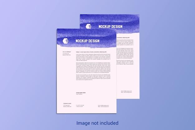 Mockup di carta intestata di pagine a4