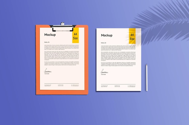 Mockup di carta e appunti a4