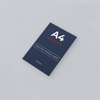 Presentazione del mockup del volantino di carta a4