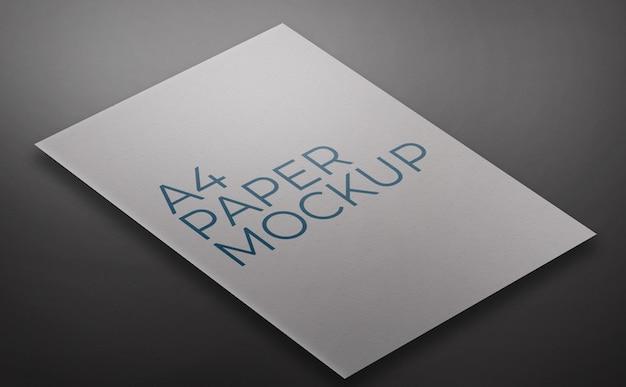 Modello di mockup di carta a4