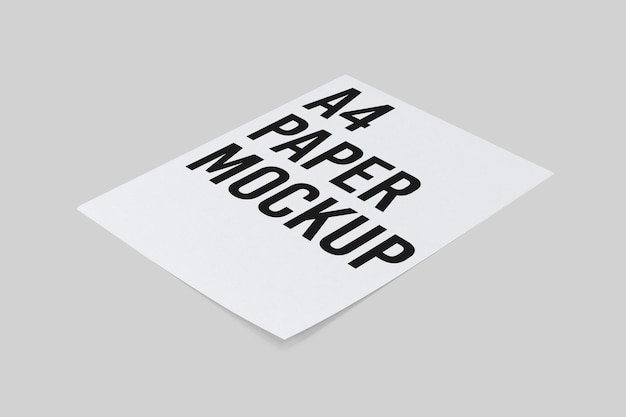 Mockup di carta a4