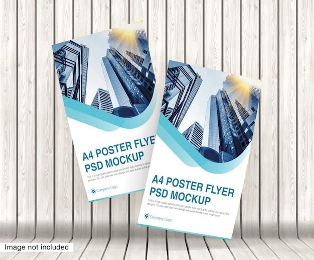 Volantino poster a4 psd mockup premium psd