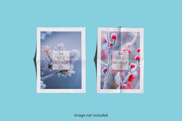 Rendering di progettazione di mockup di carta realistico a4 isolato