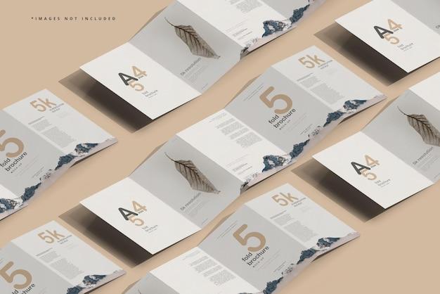 Modello di brochure a cinque pieghe formato a4