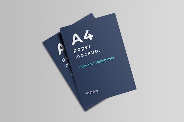 Mockup di carta in formato a4