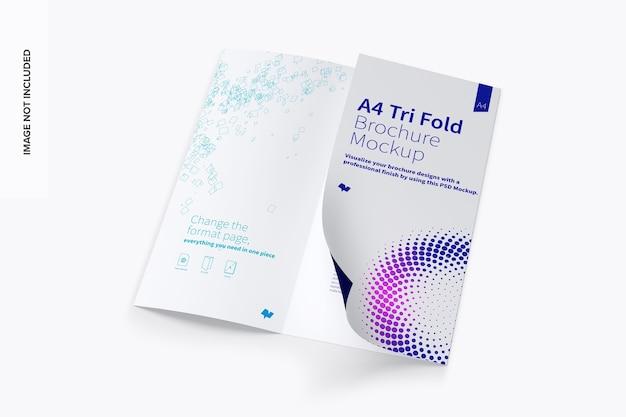 Brochure a tre ante a4 mockup Psd Premium