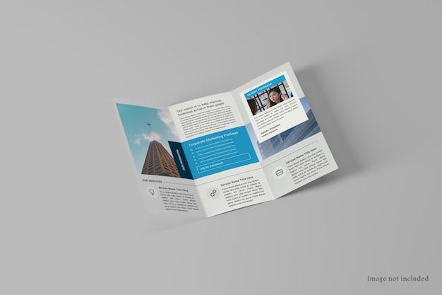Mockup di brochure a tre ante a4