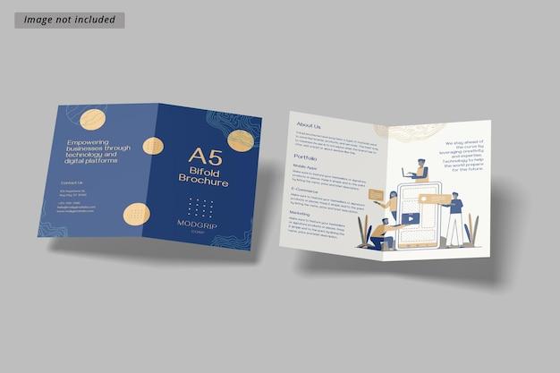 Modello di brochure bifold a5