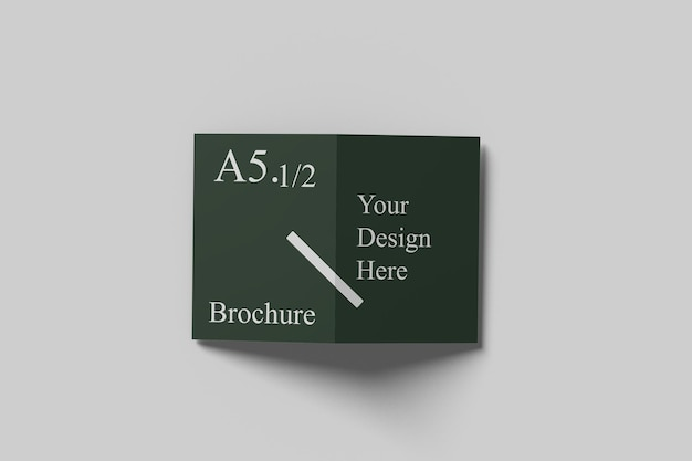 A6 a5 bifold mockup