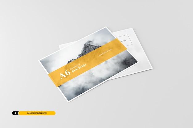 A6 flyer postcard mockup Psd Premium