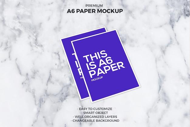 A6 mockup di carta