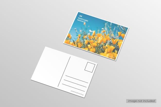 Mockup di cartolina a6
