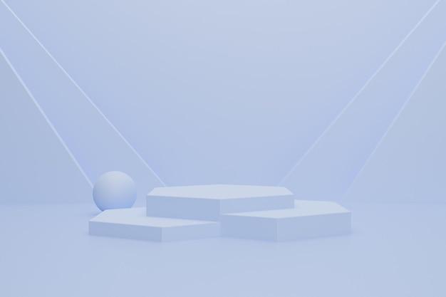 Podio 3d astratto per la visualizzazione del prodotto