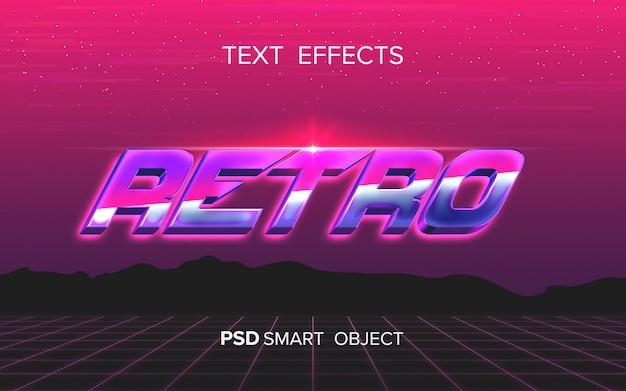 Effetto testo arcade astratto
