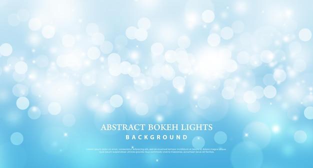 Fondo blu astratto di effetto delle luci del bokeh.