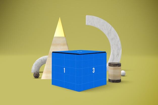 Mockup di scatola astratta