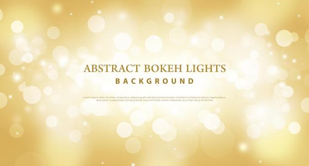 Fondo dorato astratto di effetto delle luci del bokeh.