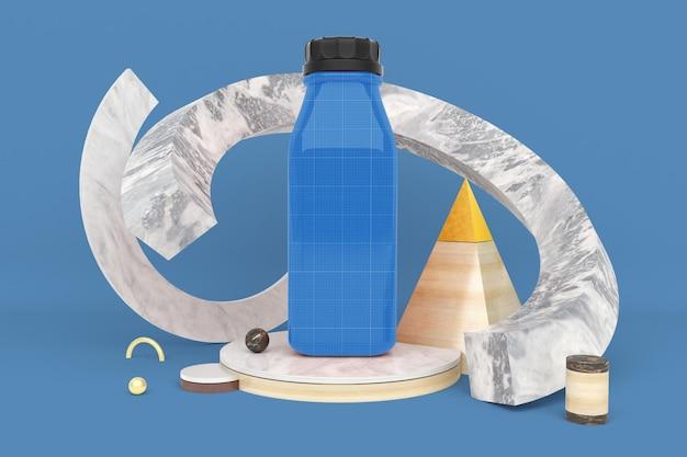Bottiglia di succo astratto