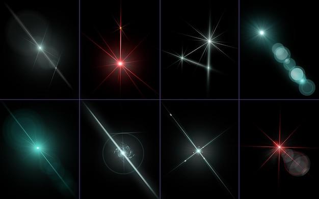 L'obiettivo astratto razzi luce eccessivamente design