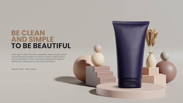 Modello di podio geometrico minimalista astratto Psd Premium