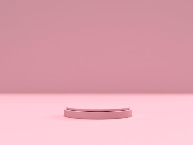 Podio di forma della geometria della scena astratta per l'esposizione del prodotto