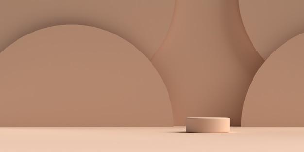 Rappresentazione del podio di forma della geometria della scena astratta