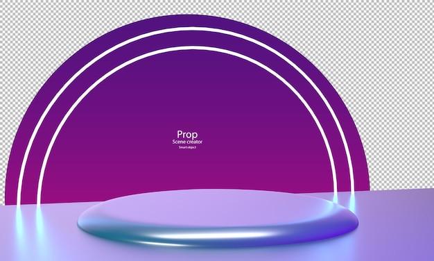 Colore crepuscolare astratto per il podio del cerchio del modello della fase del prodotto del mockup del prodotto per la vetrina