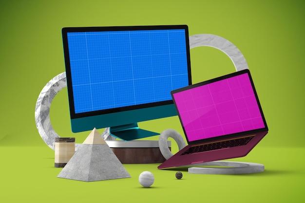 Mockup di sito web astratto