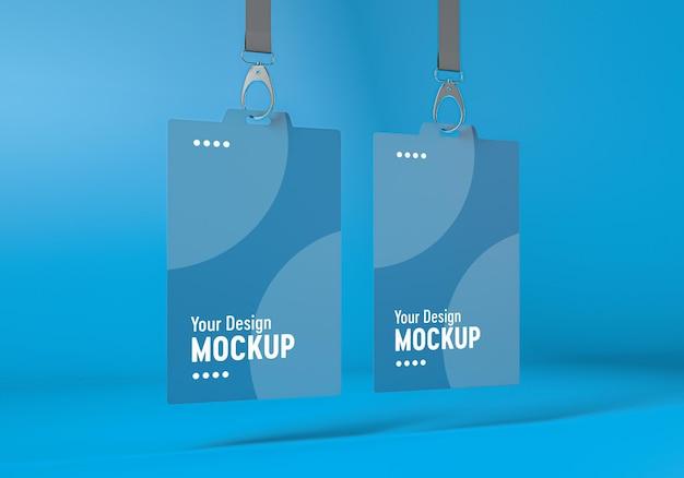 Accedi al mockup della carta d'identità nel rendering 3d isolato