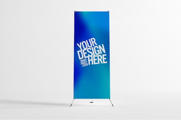 Banner stand pubblicitario mock up