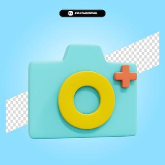 Aggiungi immagine 3d rendering illustrazione isolata