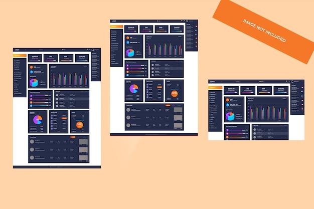 Modello di dashboard di amministrazione
