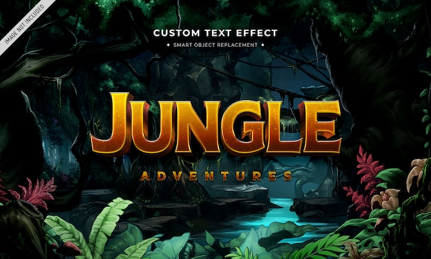 Film di avventura effetto testo in stile 3d