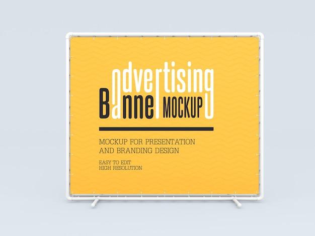 Mockup di banner pubblicitario