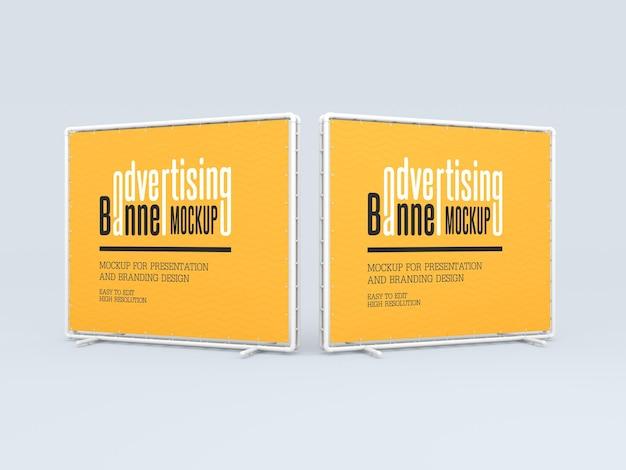 Mockup di banner pubblicitari