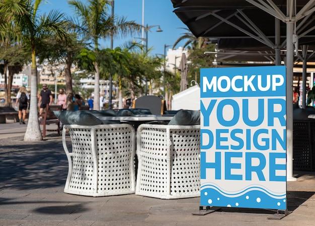 Mockup di cartelloni pubblicitari