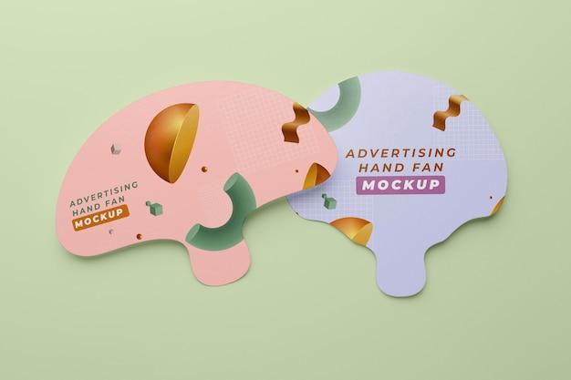 Mockup di ventagli pubblicitari