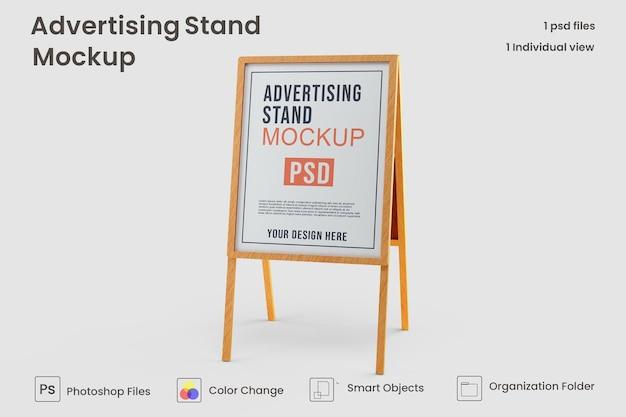 Design mockup banner stand pubblicitario psd premium
