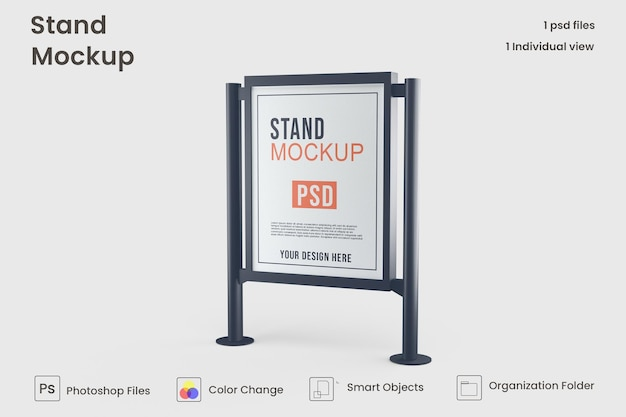 Design mockup banner stand pubblicitario
