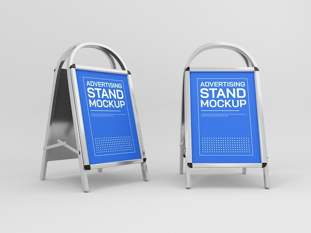 Modello di banner per stand pubblicitario