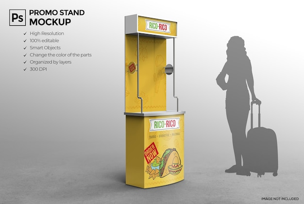 Isolare il design del mockup dello stand pubblicitario