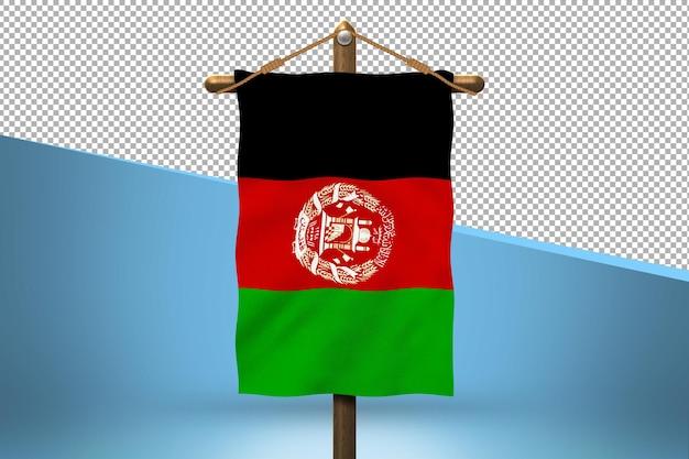 Afghanistan hang flag design background