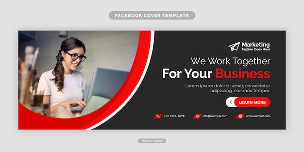 Modello moderno di design della copertina di facebook dell'agenzia