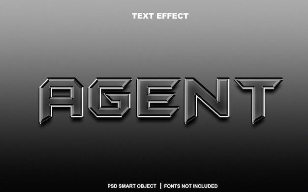 Effetto testo agente. oggetto intelligente modificabile
