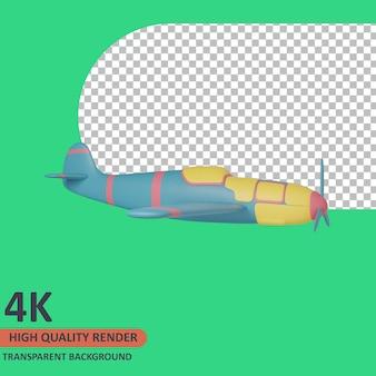 Rendering di alta qualità dell'illustrazione dell'icona del veterano 3d degli aerei