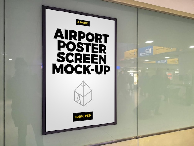 Schermata del poster dell'aeroporto mock-up